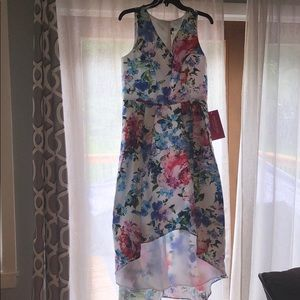 Floral Hi Low Prom Dress